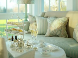 Champagne afternoon tea in the Drawing Room