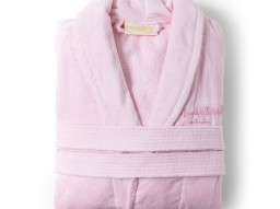 Signature pink bathrobe