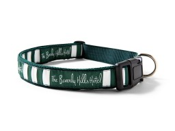 The Beverly Hills Hotel dog collar - Green and White